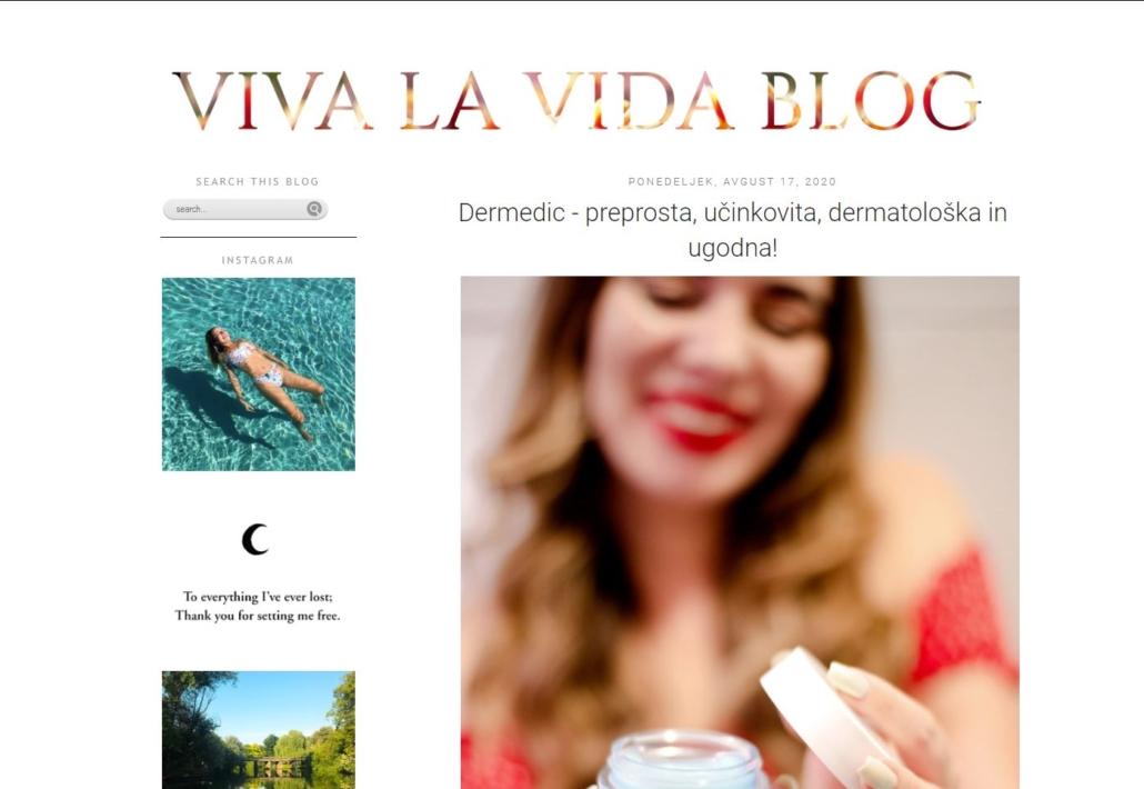 viva la vida spletni blog